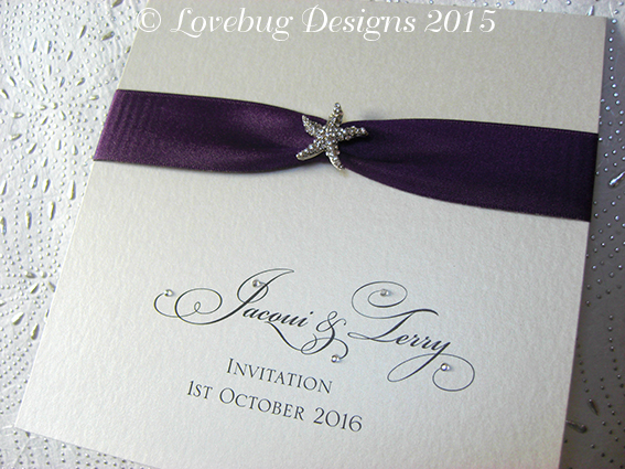 Sparkle Beach Pocket Fold Invitation
