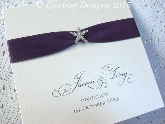 Beach Sparkle Pocketfold Invitation