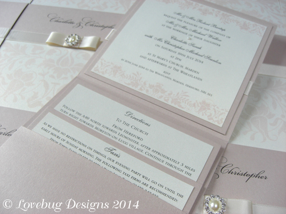 Treasure Pearl Pocket Fold Invitation