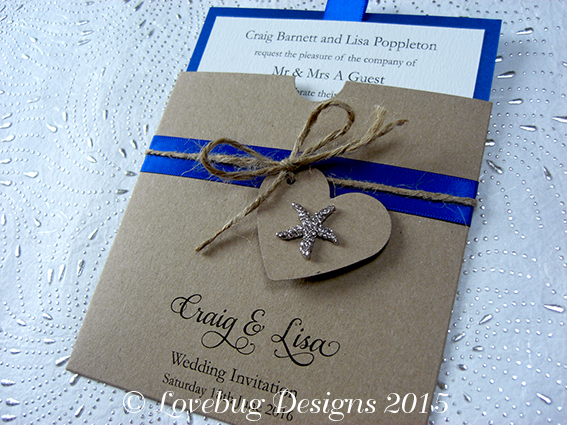 Rustic Beach Pocket Invitation