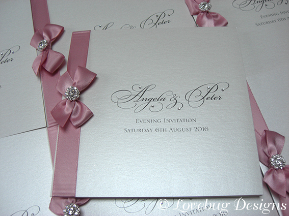 Paris Pink Folded Invite