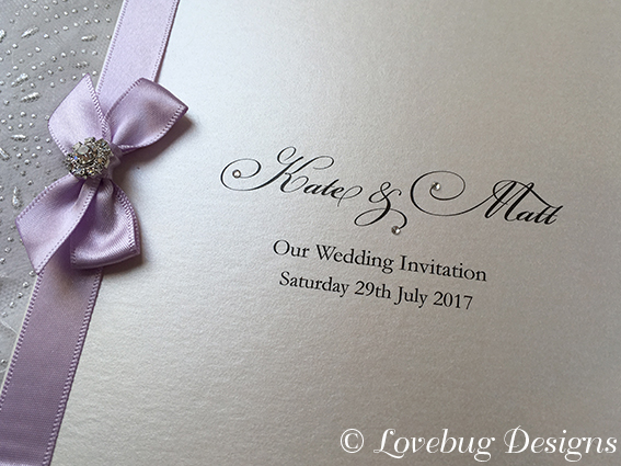 Paris folded Invitation – Orchid