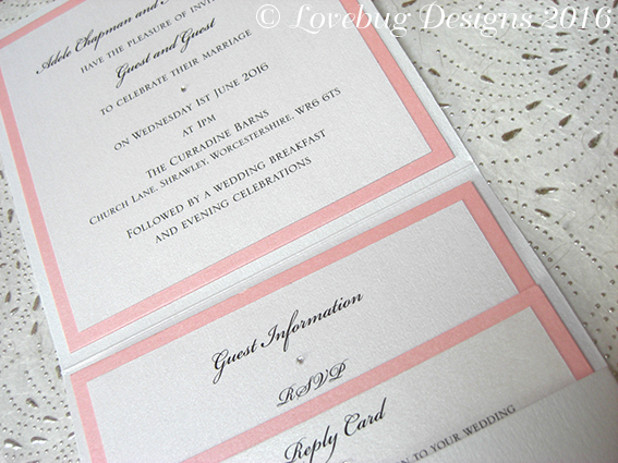 All That Glitters Pocketfold Invitation