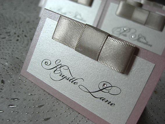 Dior Bow Place Card