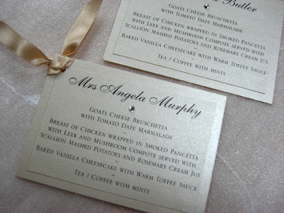 Tag Menu Place Card