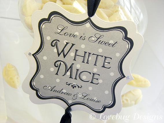 Black & White Polka Dot Sweet Tag