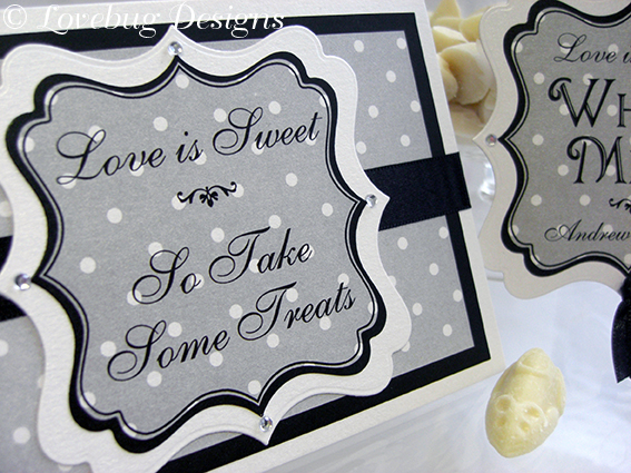 Black & White Sweet Buffet Sign