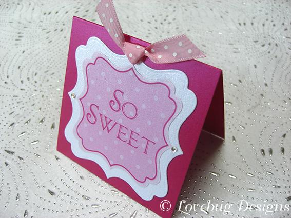 Pink Polka Dot Sweet Buffet Tag