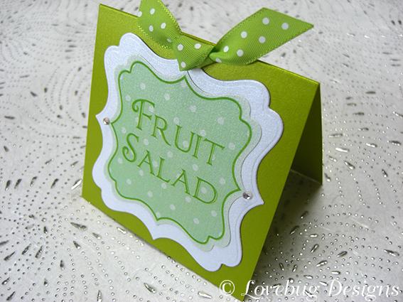 Green Polka Dot Sweet Buffet Tag