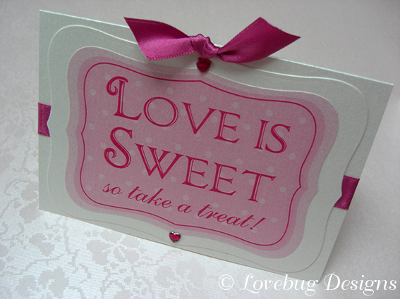 In the Pink Sweet Buffet Sign