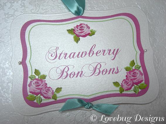 Rose Sweet Buffet Tag