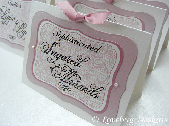 Pink Lace Sweet Buffet Tag