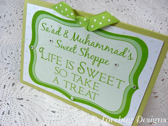 Green Polka Dot Sweet Buffet Sign