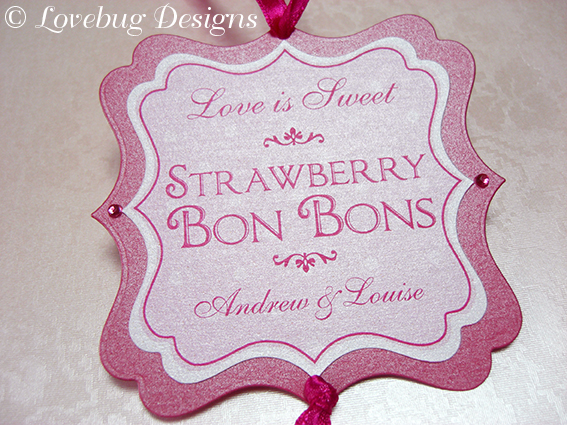 Pink Sweet Buffet Tag