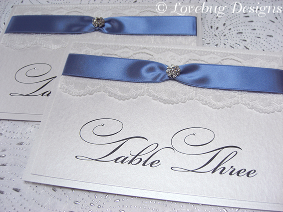 Chantilly Table Number
