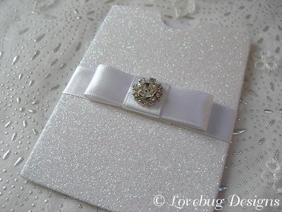 Glitter Mini Pocket Save the Date