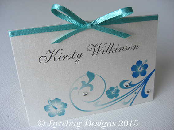 Hibiscus Place Card