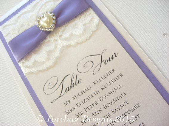 Chantilly Table Plan