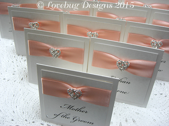 Luxury Crystal Heart Place Card