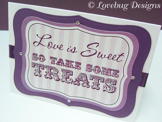 Purple Stripe Sweet Buffet Sign