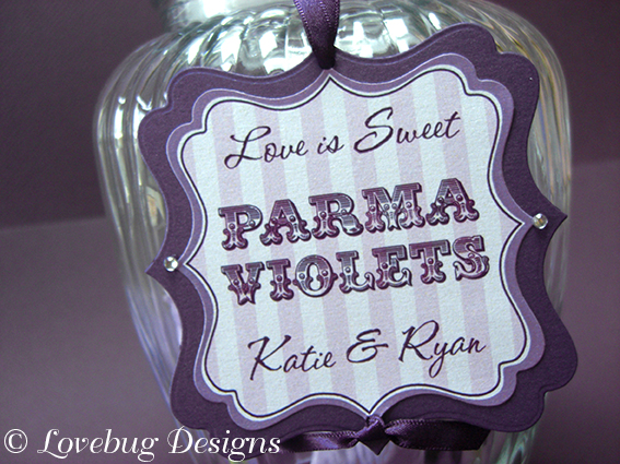 Purple Stripe Sweet Tag