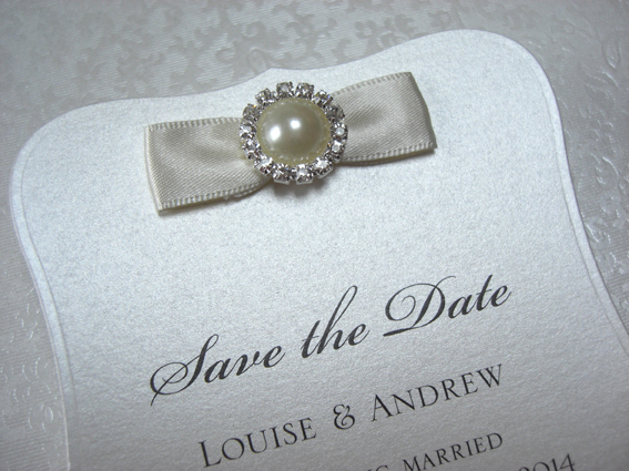 Vintage Pearl Save the Date