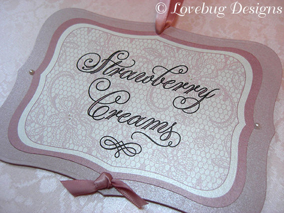 Pink Lace Sweet Tag