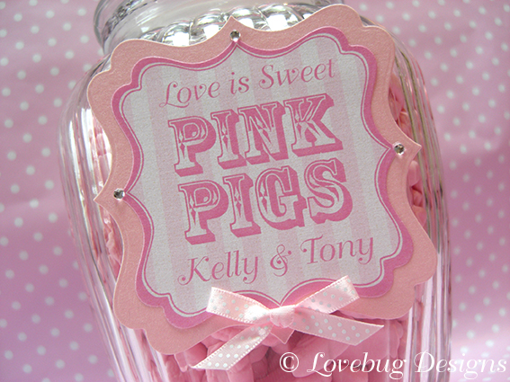 Pink Stripe Sweet Tag
