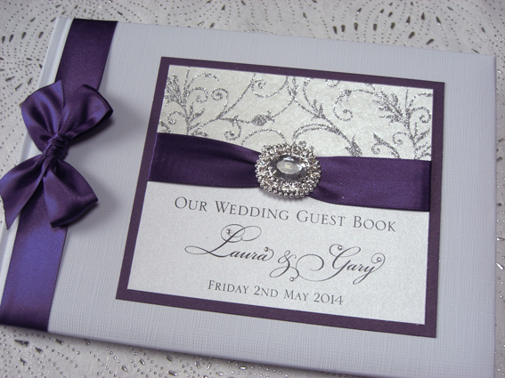 Purple Frost Guest Book