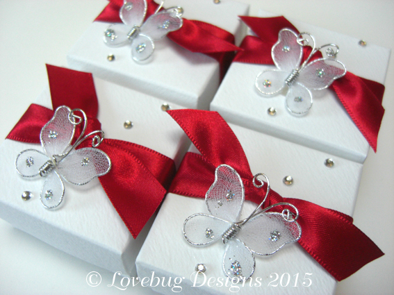 Red Flutterby Favour Box
