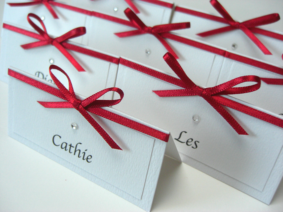Tied Bow Place Card