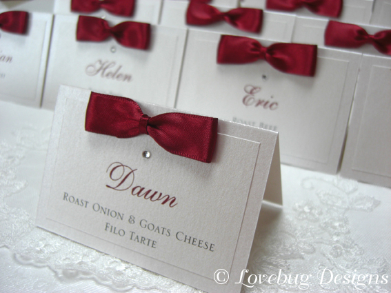 Bow Tie Menu / Place card