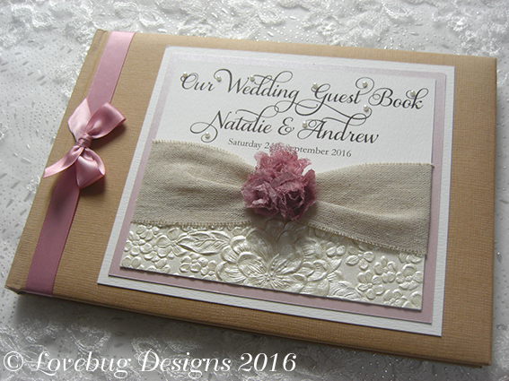 Rustic Rose Guest Book