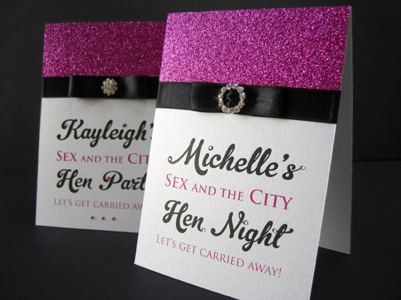 Sex and the City Hen Night Invite