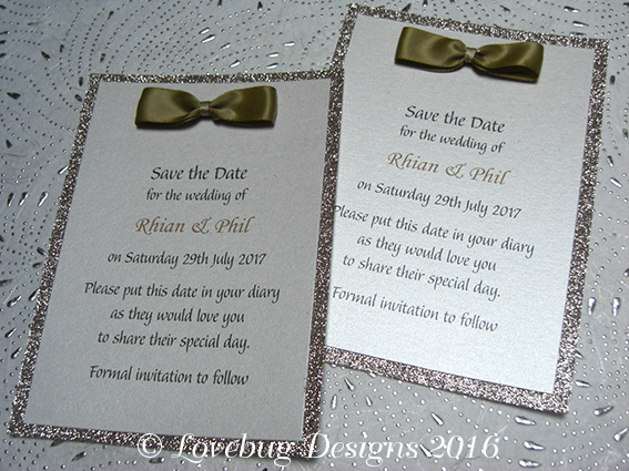 Glitz Save the Date Post Card