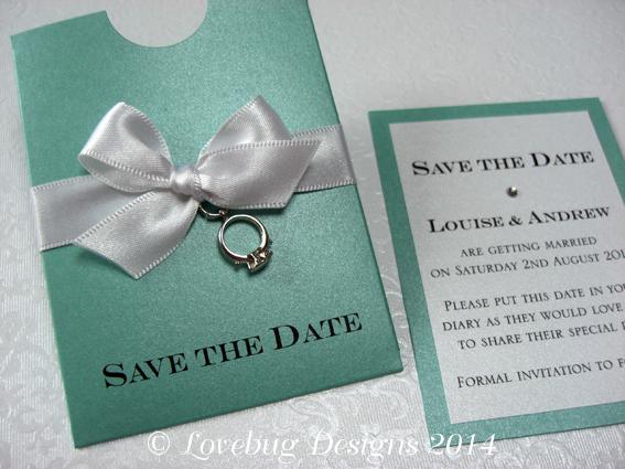 Tiffany Mini Save the Date Pocket