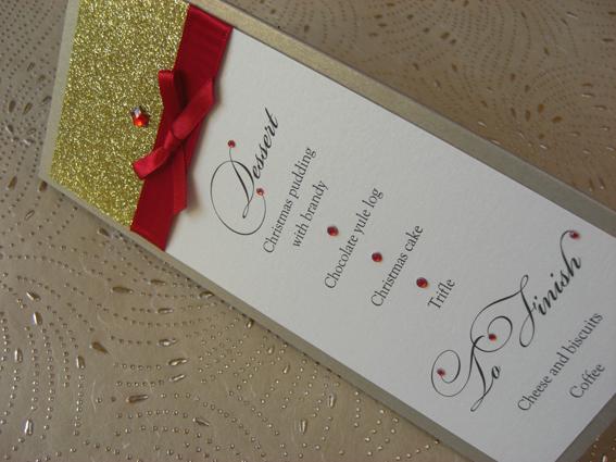 Christmas Tri Fold Menu