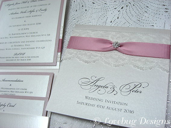 Chantilly Pocketfold Invite