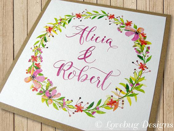 Floral Romance Invite Front