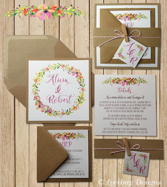 Floral Romance Invite Set