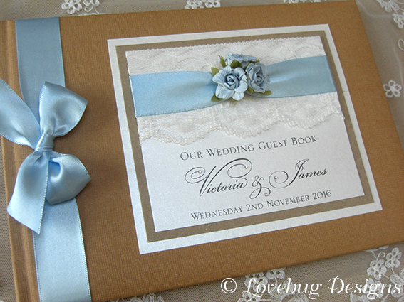 Rustic Guest Book – Rose & Lace