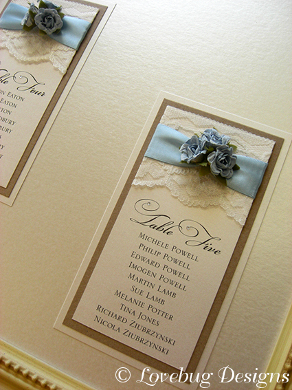 Rustic Table Plan – Rose & Lace