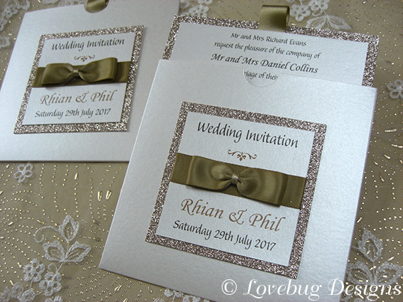 Jeeves Glitter Pocket Invitation