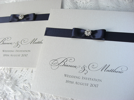 Diamond Elegance Pocket Fold Invitation