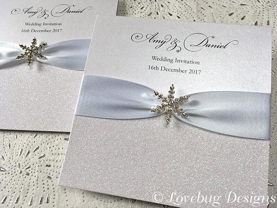 Snow Queen Pocket Fold Invitation