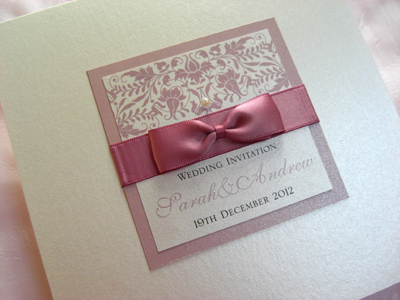 Baroque Pocket Fold Invitation