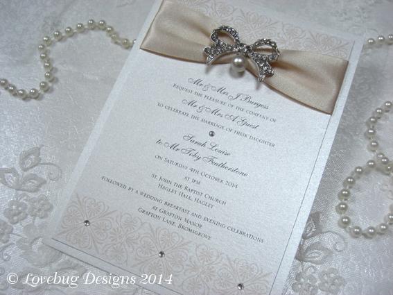 Beau Glamour Flat Invitation