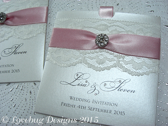 Chantilly Pocket Invitation – Vintage Crystal