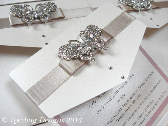 Papillon Envelope Fold Invitation