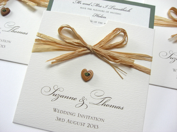 Rustic Charm Pocket Invitation